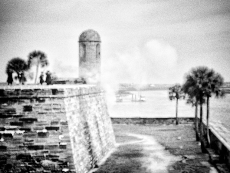 Castill de San Marcos Fort Cannon Fire