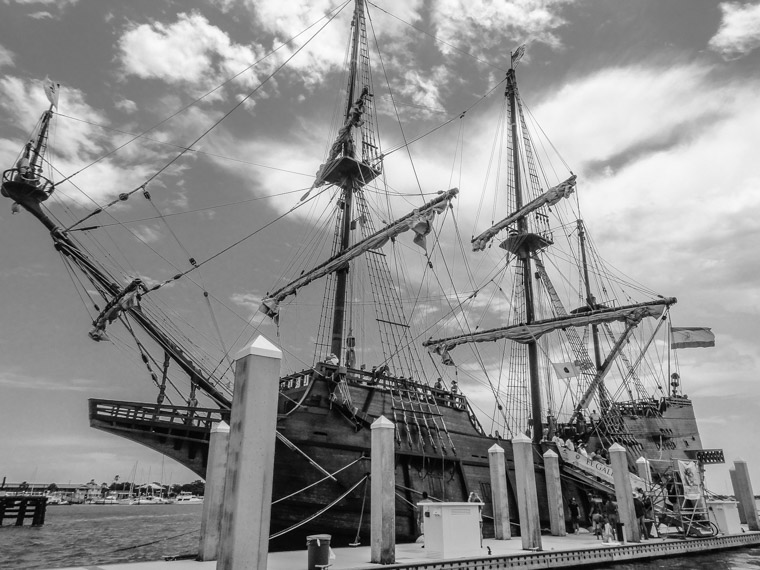 El Galleon Spanish Ship on intracoastal dock