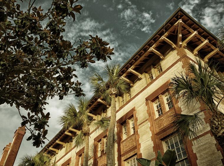 Flagler College sky trees