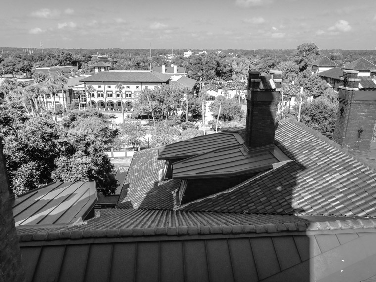 Flagler college rooftop student center view