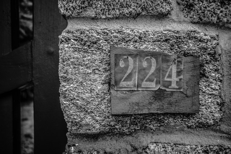 Salvaged street numbers 224