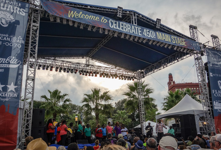 Main stage at 450th celebration