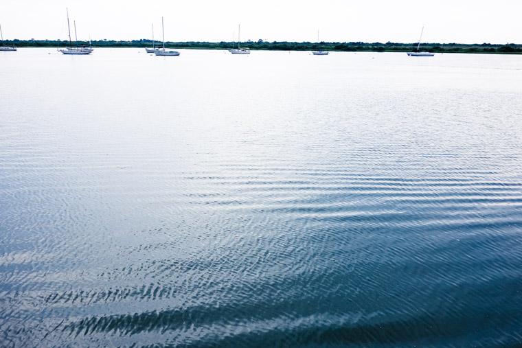 Intracoastal waves sailboat ripples