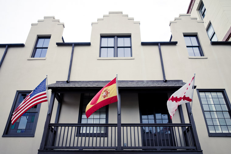 American Florida and Spanish Flags