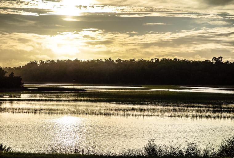 Moultrie Creek Marsh Flooded Sunset