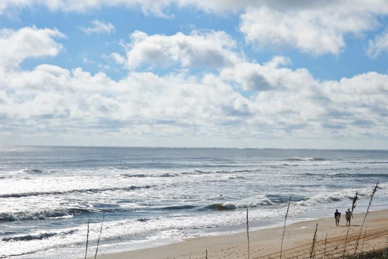 Surfing beach Hurricane Joaquin