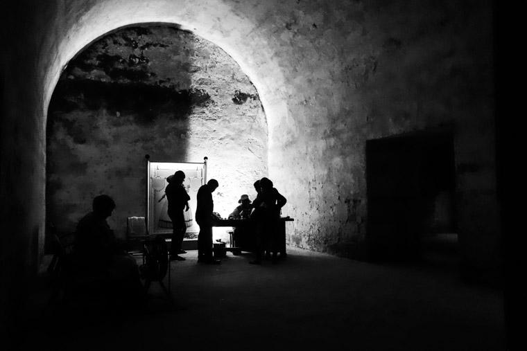 Fort Castillo de san marcos sewing reenactors