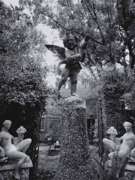 Dow museum of historic houses garden sculptures