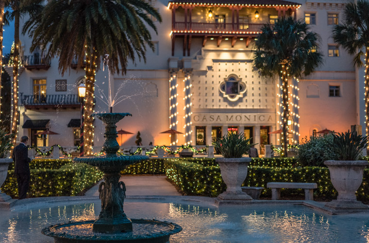 Casa Monica Tux Fountain Night of Lights