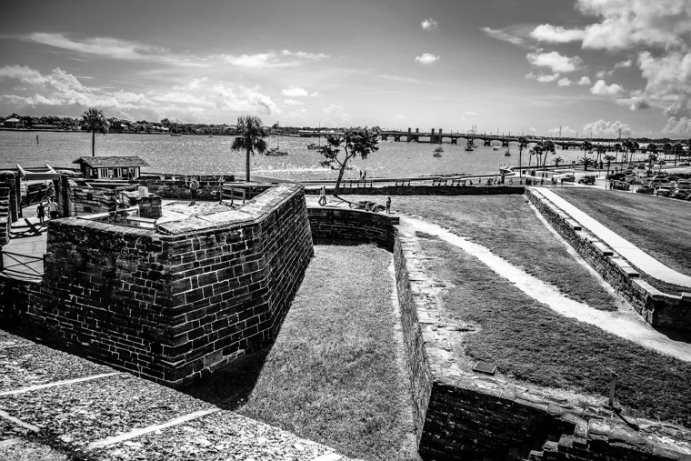 Fort Castillo De San Marcos Intracoastal and Bridge of Lions