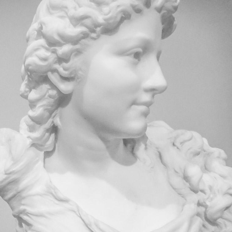 Lightner Museum Marble bust sculpture