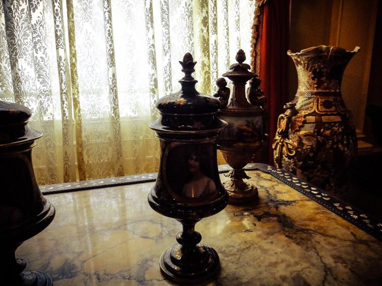Flagler college Hotel ponce de leon cups and vase