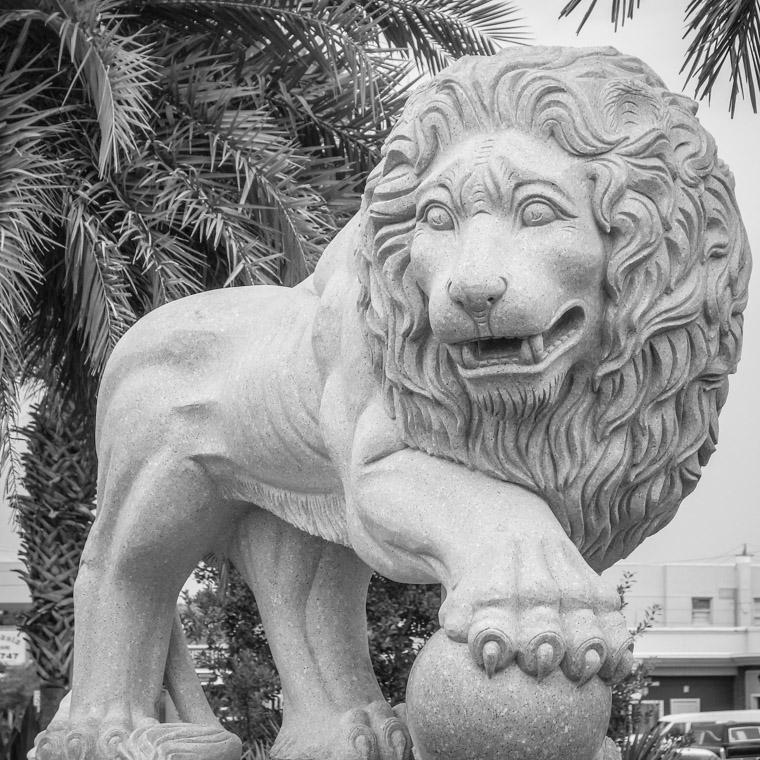 Bridge of lions sculpture