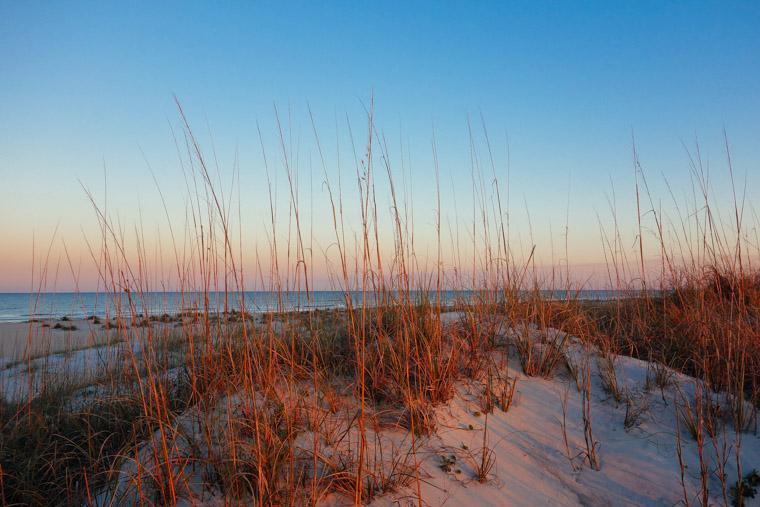 Sunset dunes at Anastasia State Park