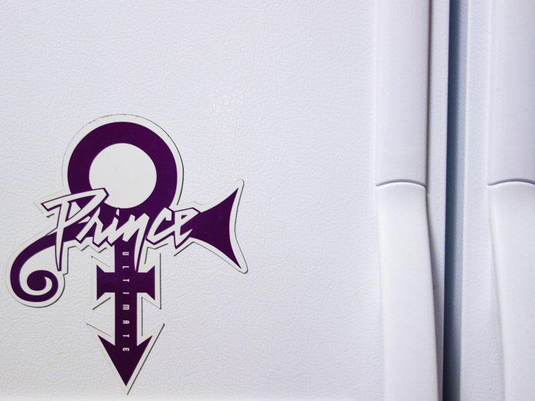 Prince magnet on fridge
