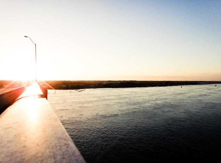 Vilano bridge sunset