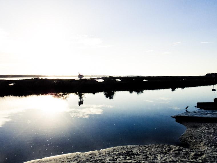 Intracoastal dock sunrise