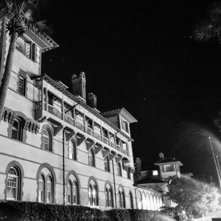 Flagler College at Night Sprinkler