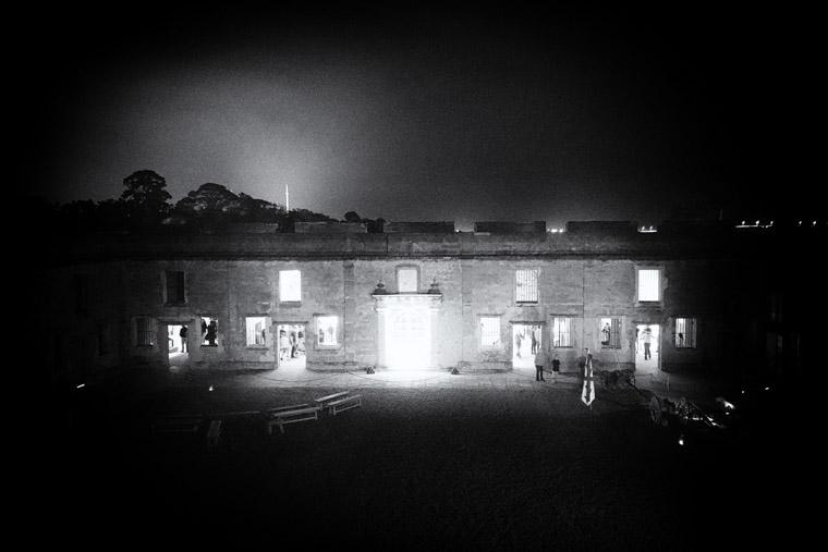 Castillo de san marcos fort and cross at night