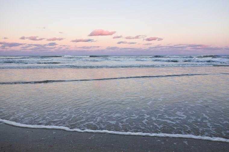Anastasia State Park Beach Sunset