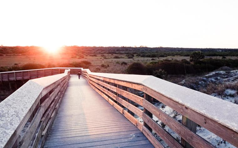 Anastasia state park boardwalk