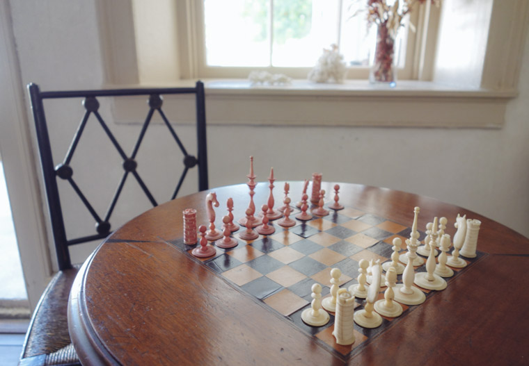 Chess board at Ximenez-Fatio House