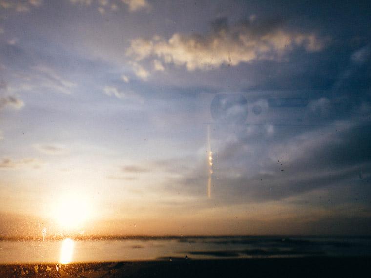 Sunset drive reflection