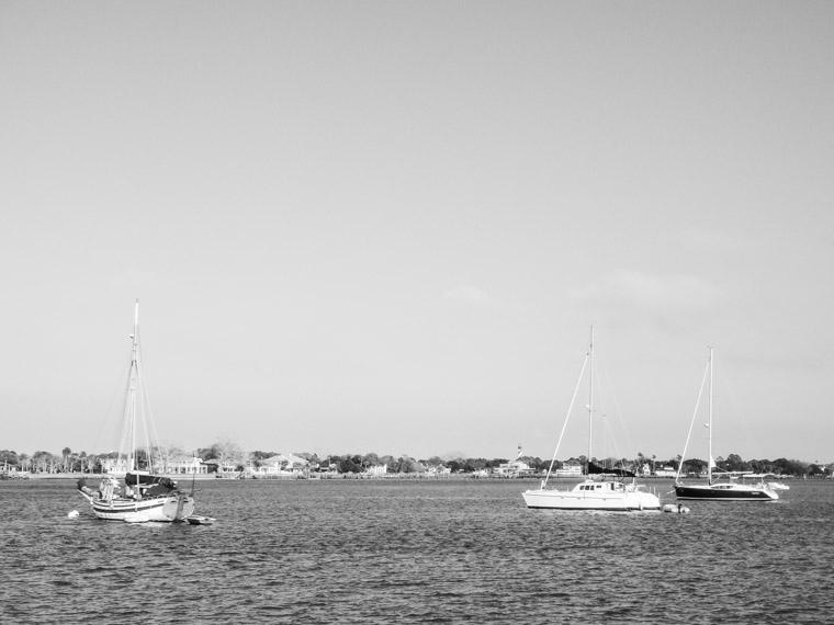 Intracoastal sailboats