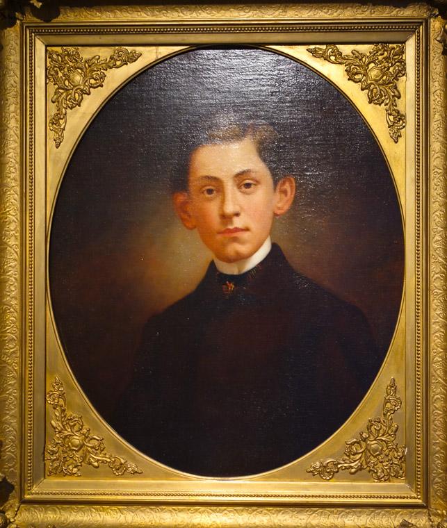 Lightner museum oil painting portrait