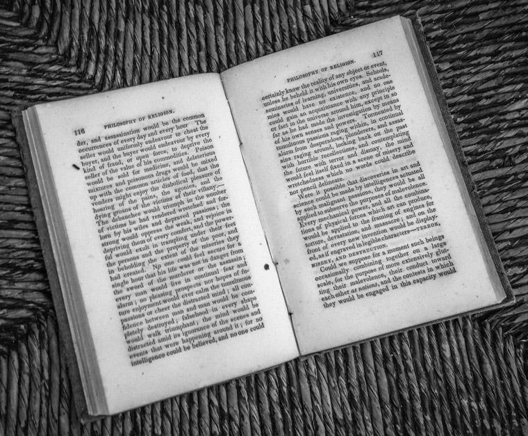 Ximenez-Fatio House philosophy of religion antique book
