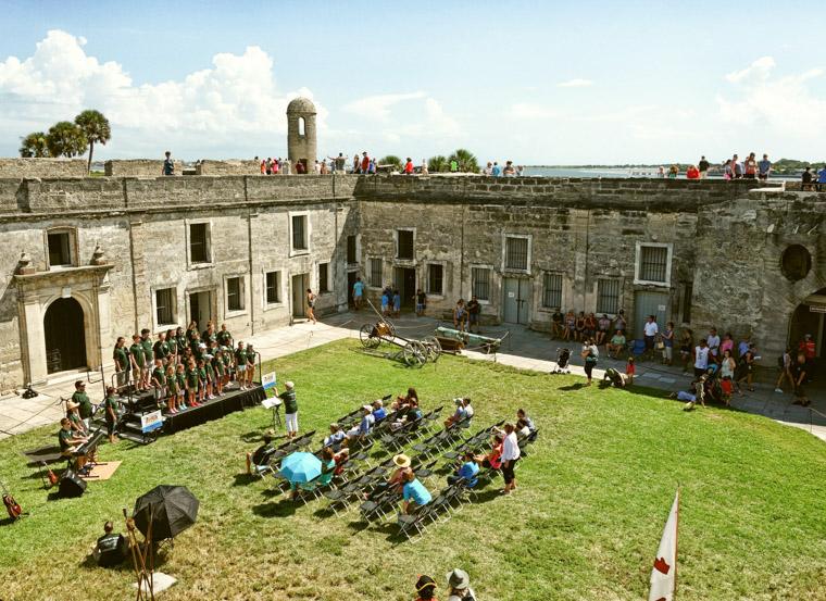 St Augustine Youth Chorus at Castillo de San Marcos Fort