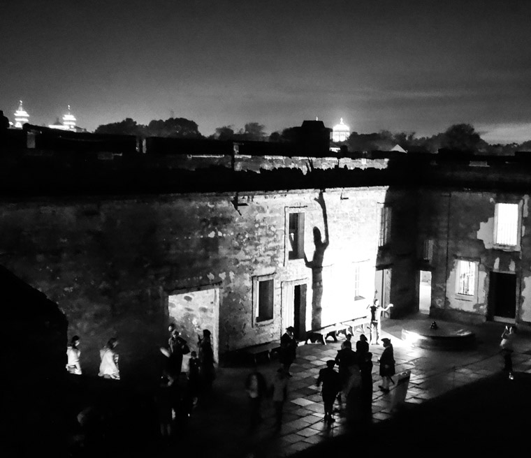 Fort Castillo de san marcos night shadows