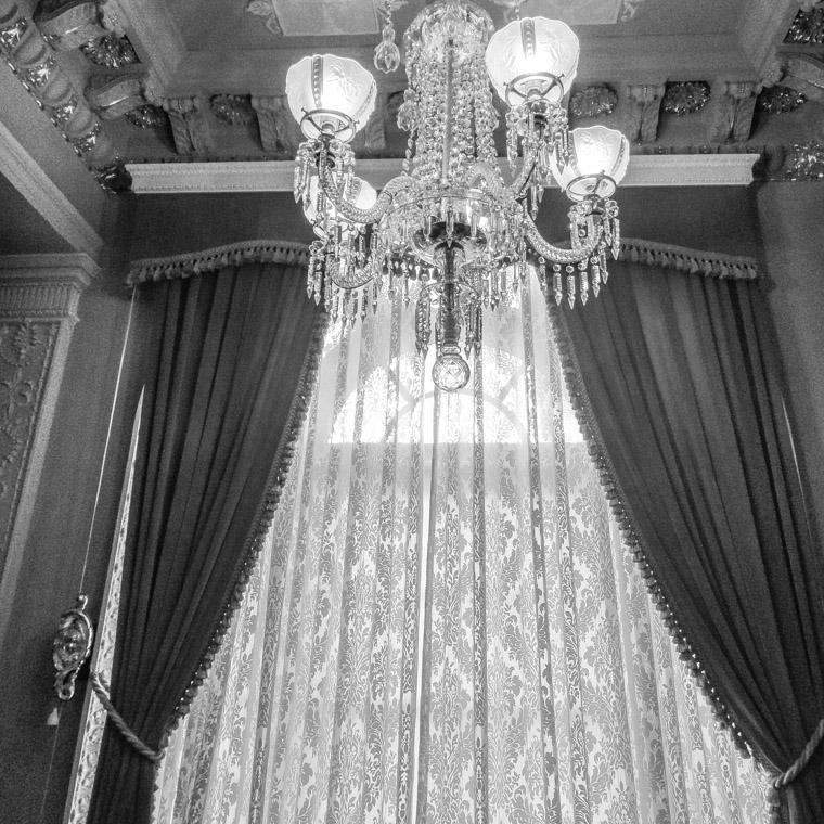 Flagler college chandelier curtains
