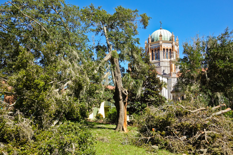 Hurricane matthew at Memorial Presbyterian Church