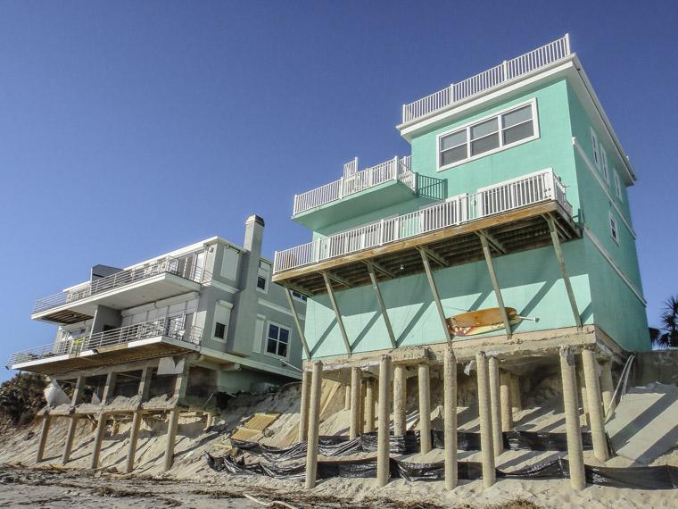 Vilano Beach erosion from hurricane matthew