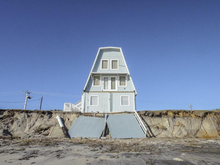 Vilano beach home damaged by hurricane matthew erosion