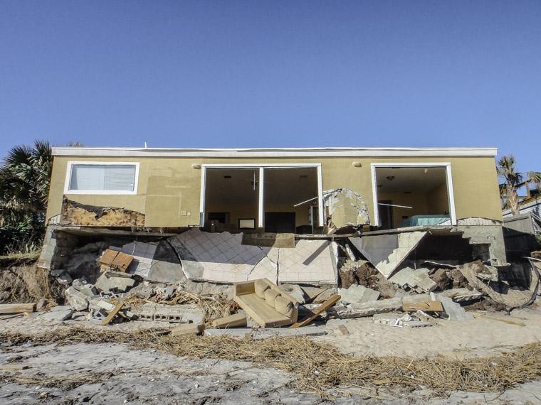 Vilano beach hurricane matthew erosion destruction
