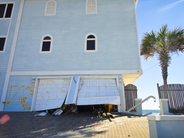Vilano Beach hurricane matthew damage