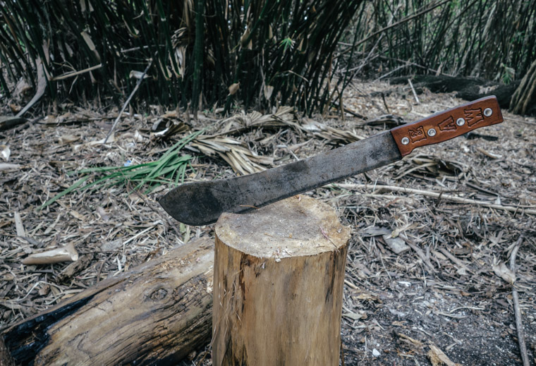 Fountain of youth machete leather handle