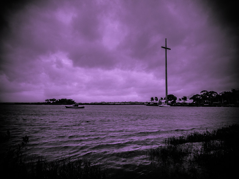 Big cross and intracoastal boat