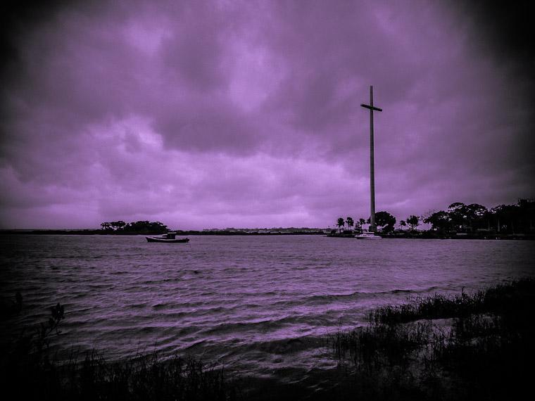 Big cross and intracoastal boat